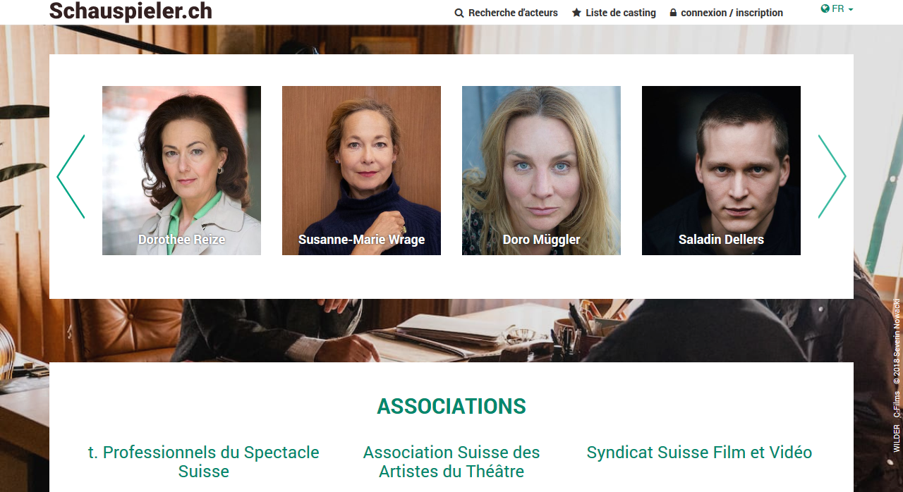 Image for Schauspieler.ch - für Schauspielerinnen & Schauspieler der Schweiz