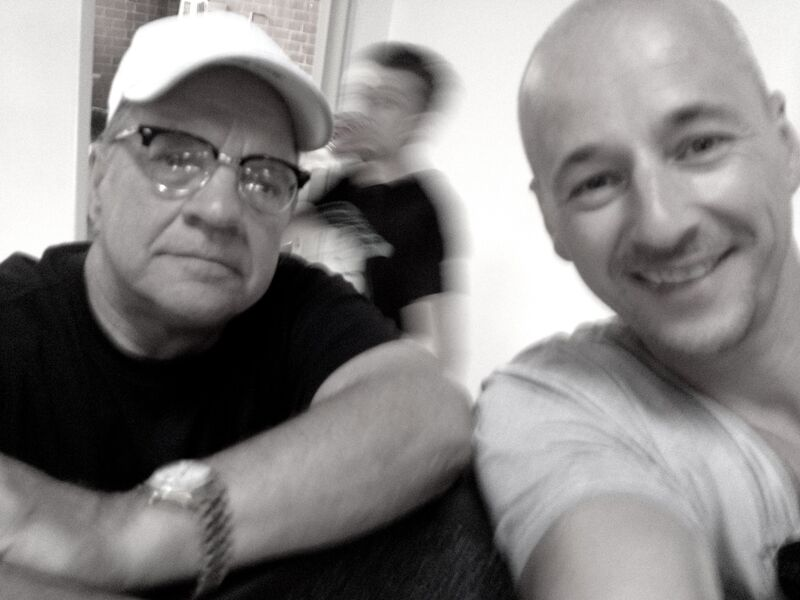"""© Paul Schrader&Jim Boeven on set of """"The Canyons"""""""