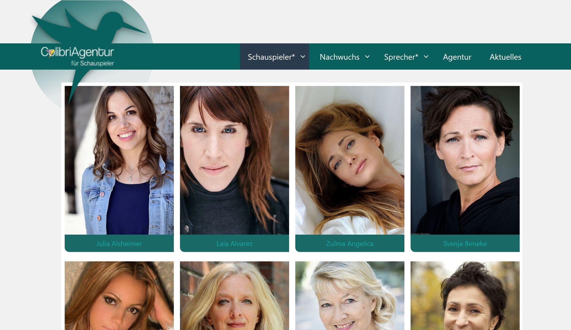 Image for Neue Website der ColibriAgentur für Schauspieler